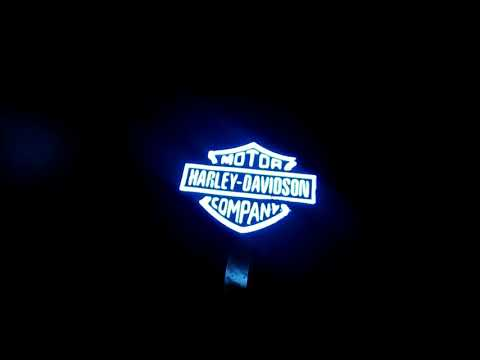 Organic LED paint used to make a harley logo