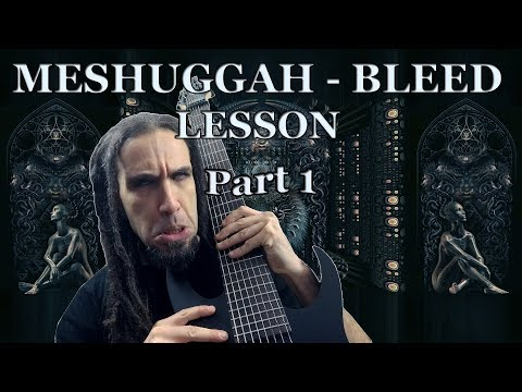 MESHUGGAH BLEED. GUITAR LESSON SLOW SPEED (part 1)