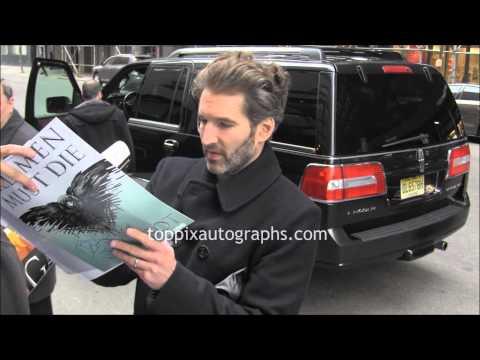 David Benioff - Signing Autographs at NYC hotel
