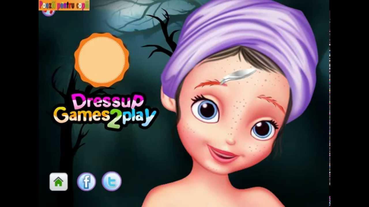 Doamna Florilor Jocuri Pentru Copii Sofia Machiaj De Halloween
