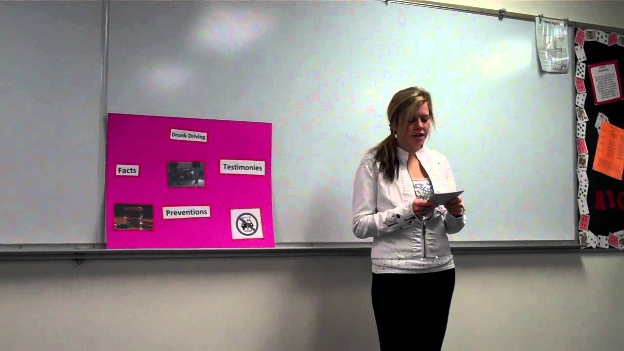 Persuasive speech on drunk driving
