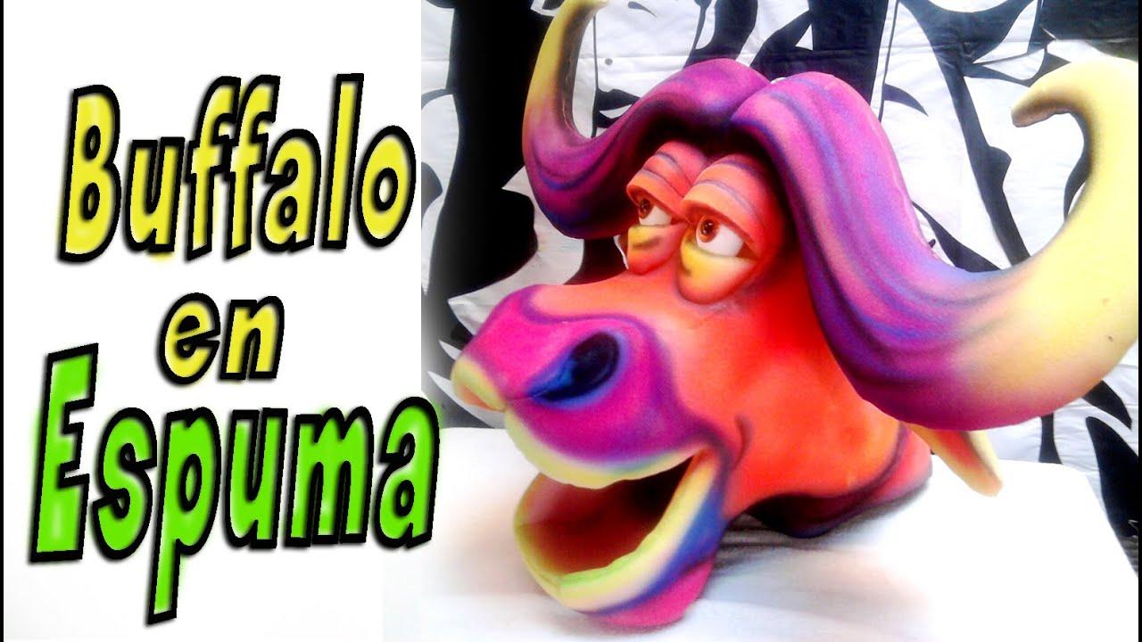 Bufalo en goma espuma buffalo foam gorros de goma - Goma espuma manualidades ...