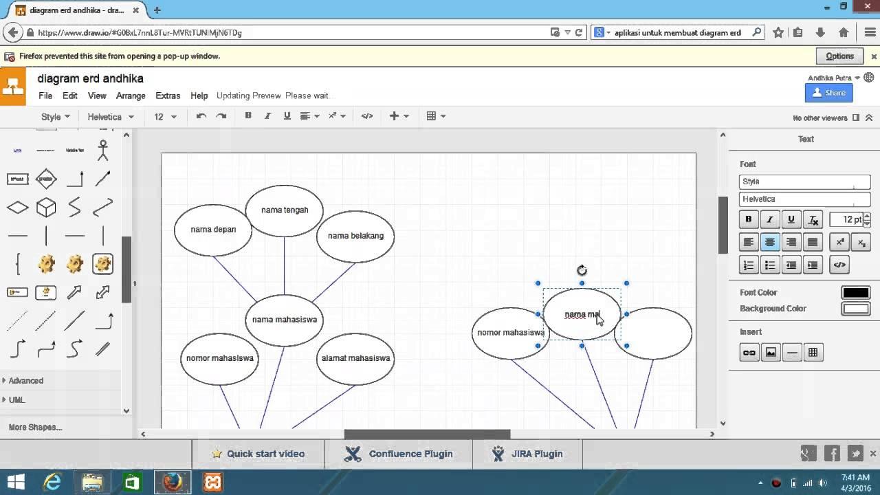 Diagram Erd Menggunakan Draw Io Andhika R4y Youtube