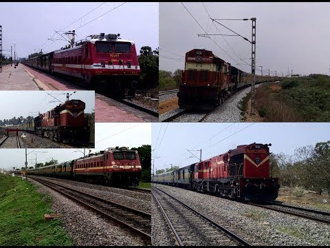 Diesel and Electric Days   22884 YPR - PURI GARIBRATH EXPRESS back to back actions  Indian Railways