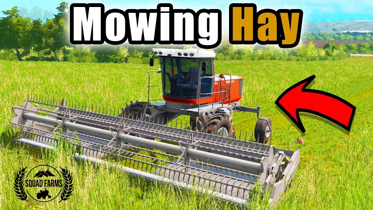 SWATHING HAY WITH THE 9870   TIREDBOG   EP 3