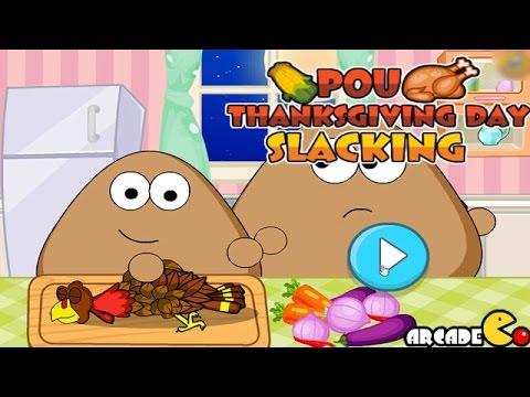 Pou Thanksgiving Day Slacking Walkthrough
