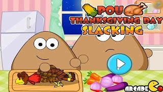 Pou Thanksgiving Day Slacking Walkthrough