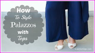 How to style Palazzos with Tops | Western Wear Style | Perkymegs