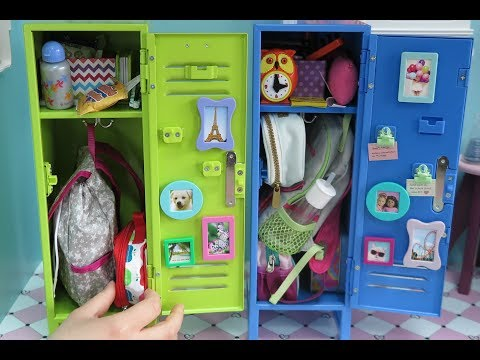 Packing American Girl Doll School Lockers