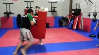 MMA Underground Move Of The Month #2 Extreme Cardio, Riot Shield Training.