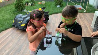 KUZENİMLE SU İÇME YARIŞMASI! for kids (water challenge)