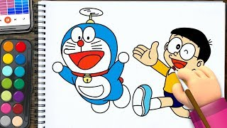 How to Draw Doraemon & Noby Nobi  | Coloring Pages | Drawing and Coloring  for kids
