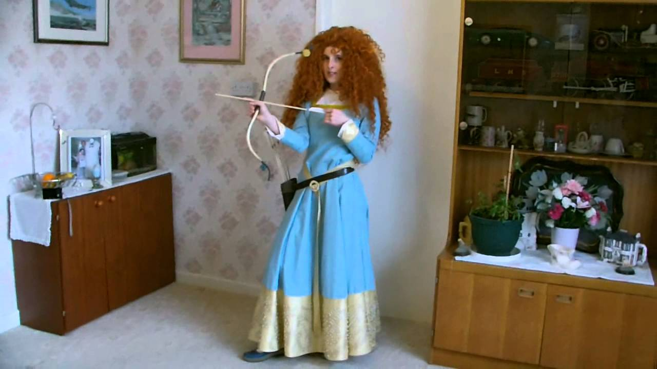 Disney Merida Blue Dress Cosplaying Dress Now For Sale