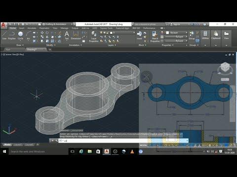 AutoCAD 3d Mechanical Parts Design / AutoCAD In Tamil Language
