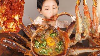 역대급 킹크랩장 ? 드디어 먹습니다 킹크랩 간장게장 Soy Sauce Marinated Raw King Crab [eating show]mukbang korean food