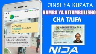 Download JINSI YA KUPATA NAMBA YA NIDA AU NAMBA YA KITAMBULISHO CHA TAIFA KUPITIA SIMU YAKO