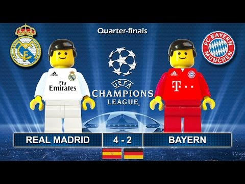 REAL MADRID vs BAYERN 4-2 • Champions League 2017 • 18/04/2017 ( Film Lego Football Highlights )