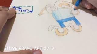 [Drawing Tutorial]~💁🏻💜 How to draw & color Finn (Adventure Time) 👱🏻