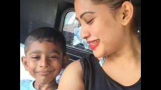 Piumi Hansamali kissing son | Piyumi Hansamali son kiss