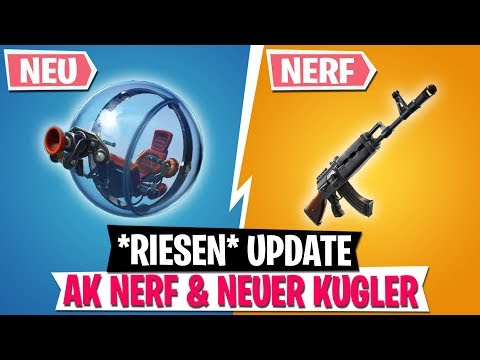 *UPDATE* AK NERF & NEUES Kugler Fahrzeug! | Fortnite Battle Royale thumbnail