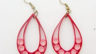 PAPER EARRINGS - How to make Simple Quilling Earrings Using Paper - Making Tutorial