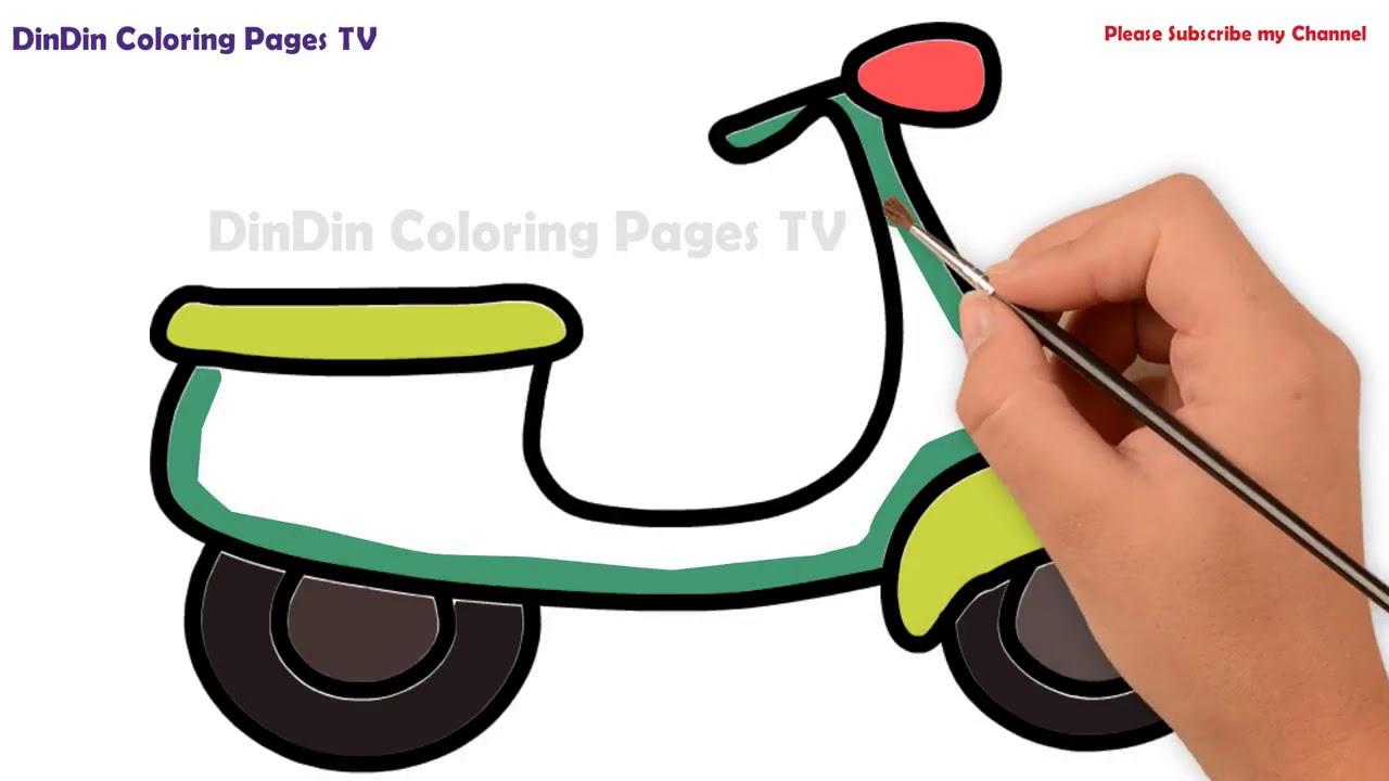 wie zeichnet man motorrad  malvorlagen für kinder