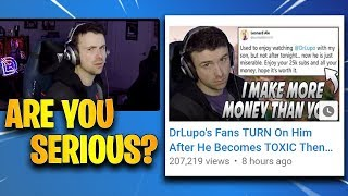 DrLupo RESPONDS To All The Haters Calling Him Toxic! (Twitch Clips Central) | Fortnite Highlights