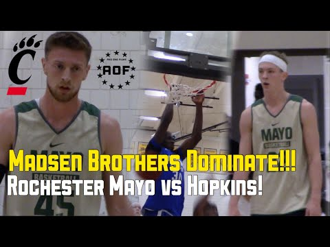 Cincinnati Commits Gabe & Mason Madsen Dominate VS Reigning State Champs! Rochester Mayo Vs Hopkins!