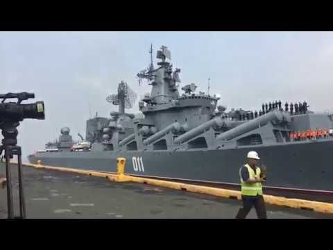 "Russian Navy Guided Missile Cruiser ""Varyag"" Arrives in Manila"