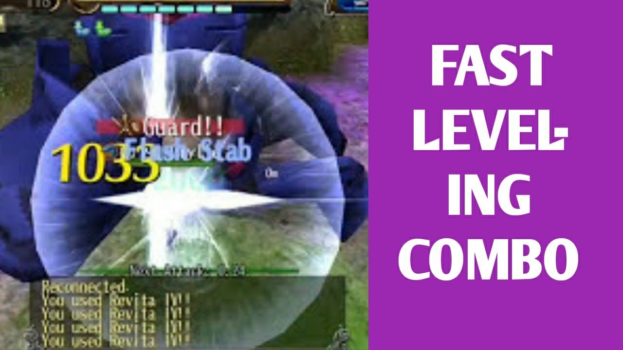How to Leveling Combo Level (fast) - Toram Online - YouTube