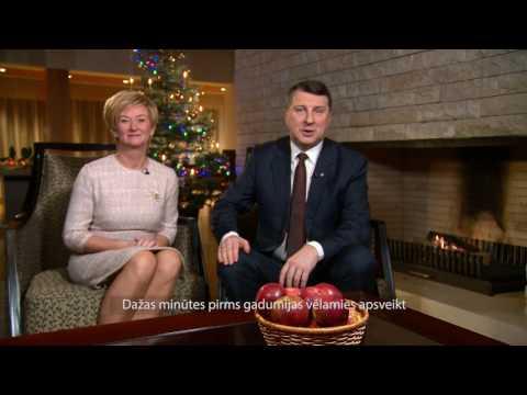 Valsts prezidenta Raimonda Vējoņa un Ivetas Vējones kundzes uzruna gadumijā 31/12/2016