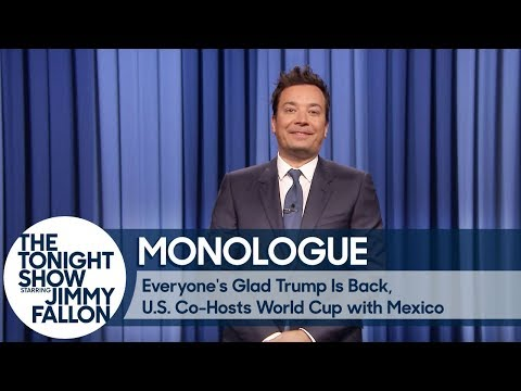 Download Youtube: Everyone's Glad Trump's Back, U.S. Co-Hosts World Cup with Mexico - Monologue