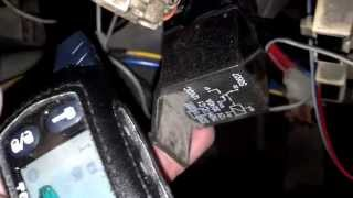 видео Реле блокировки для автосигнализаций
