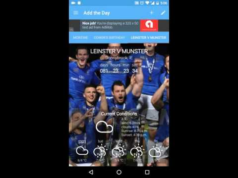 Add The Day, Android Countdown App