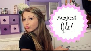 August Q&A- First Kiss, Back To School, Life Plans! Thumbnail