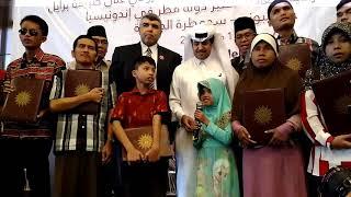 Qatar Charity Indonesia mendistribusikan Alquran Braille digital