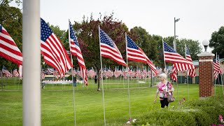 Wisconsin American Legion Post remembers 9/11 with flag display