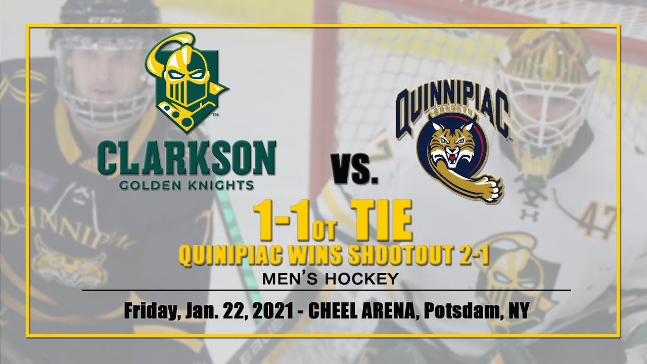 CLARKSON MEN'S HOCKEY - Golden Knights 1 - Quinnipiac 1 OT, Jan. 22, 2021