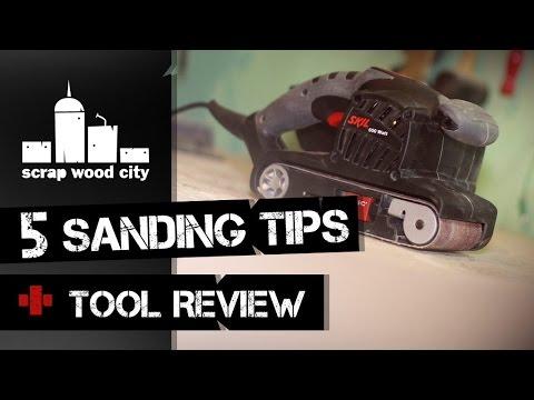5 Sanding Tips, Plus Skil Belt Sander Review