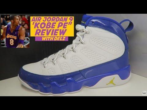 Air Jordan 9 Kobe PE Lakers Retro Sneaker Review - YouTube 8db3fb4d34