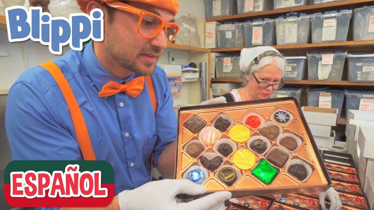 🍫 Blippi visita una fábrica de chocolates 🍫 | Aprende con blippi | Comida para niños