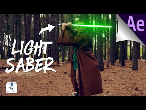 How to Make Star Wars Lightsaber Effect - After Effects (Free Files)