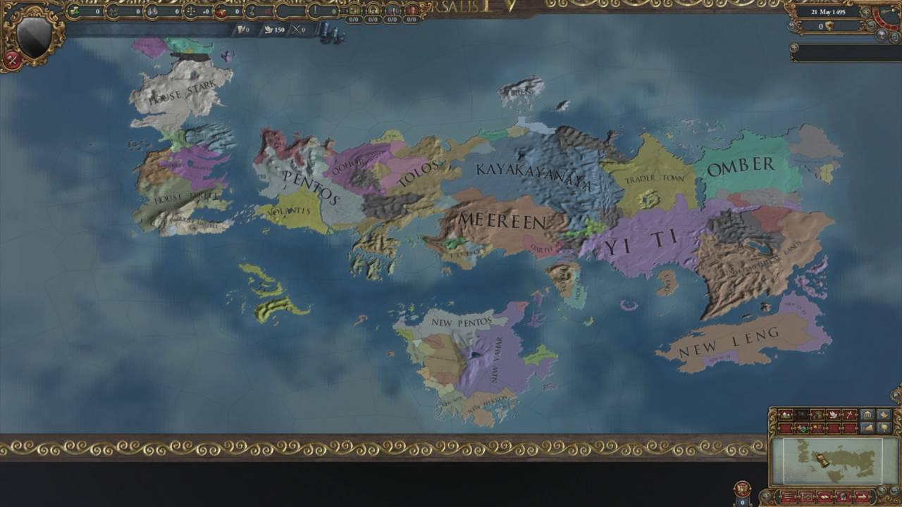 Europa Universalis IV Timelapse - Game of Thrones Mod by DCNPostboxMilita
