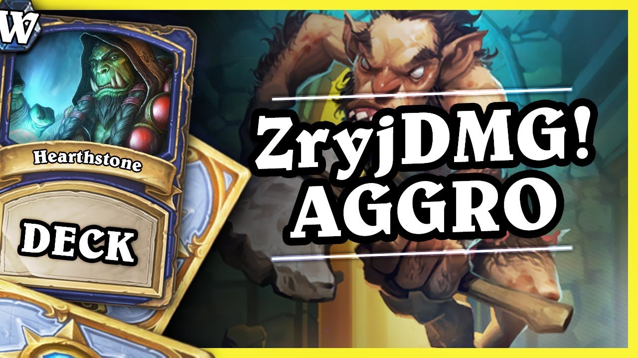 ŻryjDMG deck is back! – AGGRO SHAMAN –  Hearthstone Deck Wild (K&C)