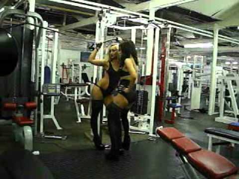sara callow ,behind the scenes gym shoot
