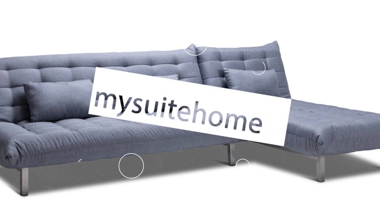 My Suite Home York Fabric Click Clack Sofa Bed