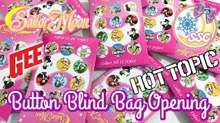 Sailor Moon Hot Topic/ GE Animation Blind Bag Button Opening ~ セーラームーン