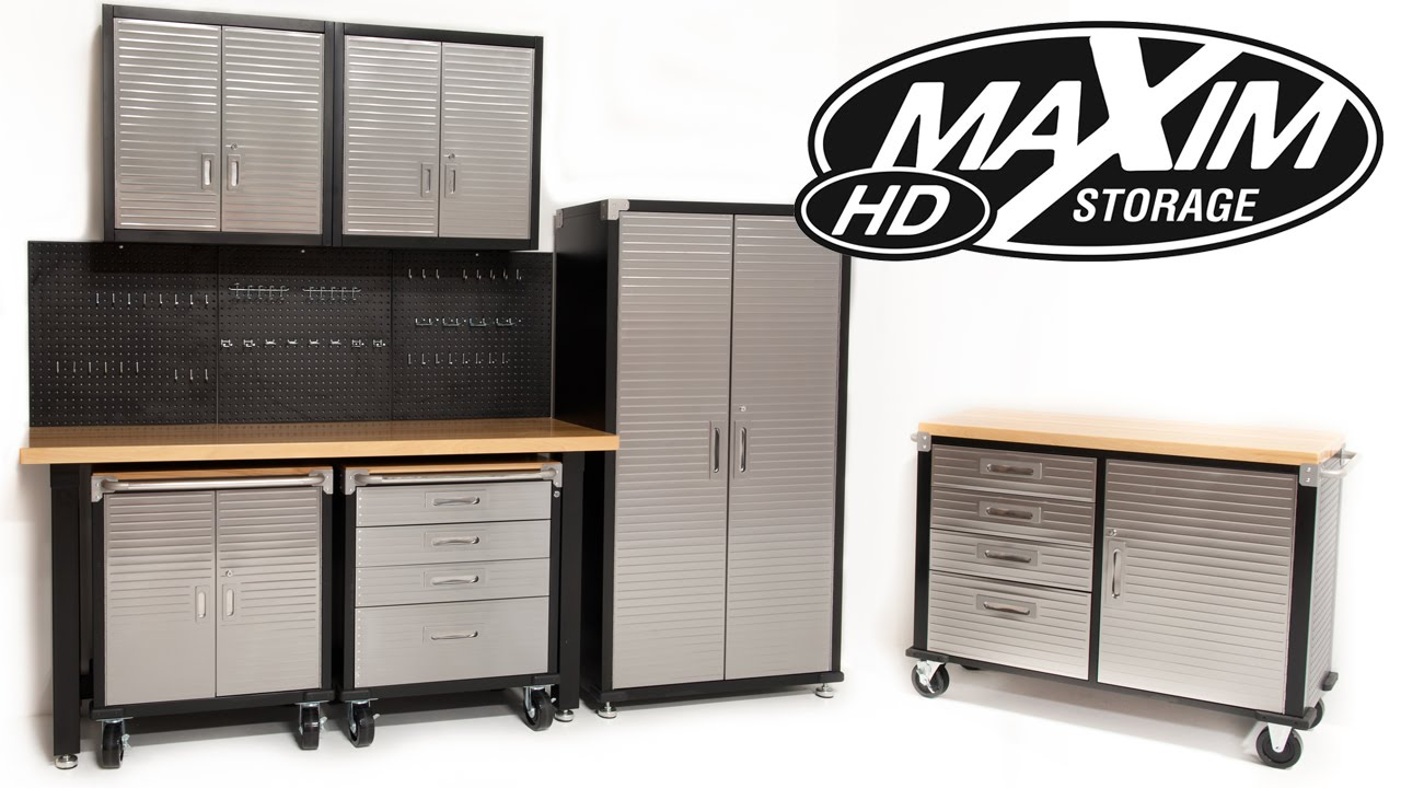 Maxim Heavy Duty Garage Storage Systems Online Cabinets Shelves Australia    YouTube