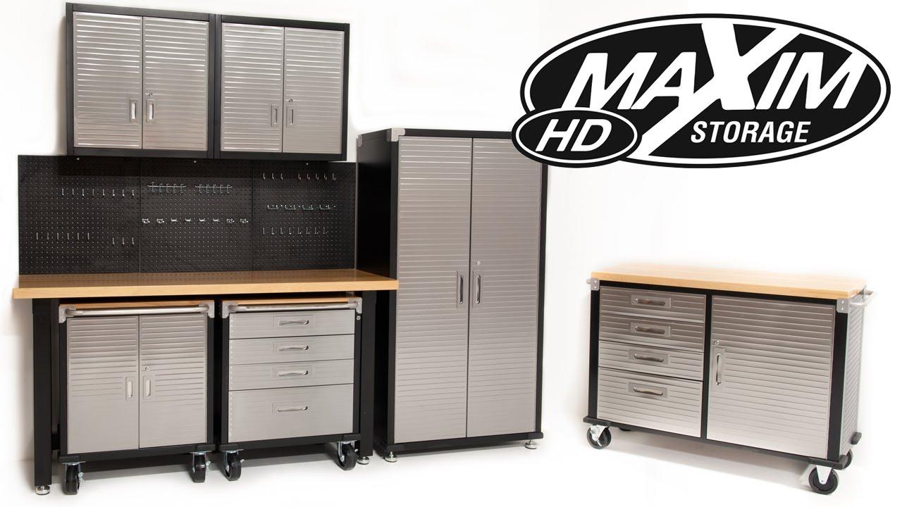 Maxim Heavy Duty Garage Storage Systems Online Cabinets ...