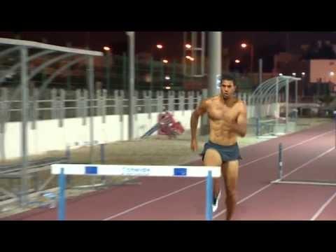 RYAN WILSON hurdles pre Doha workout